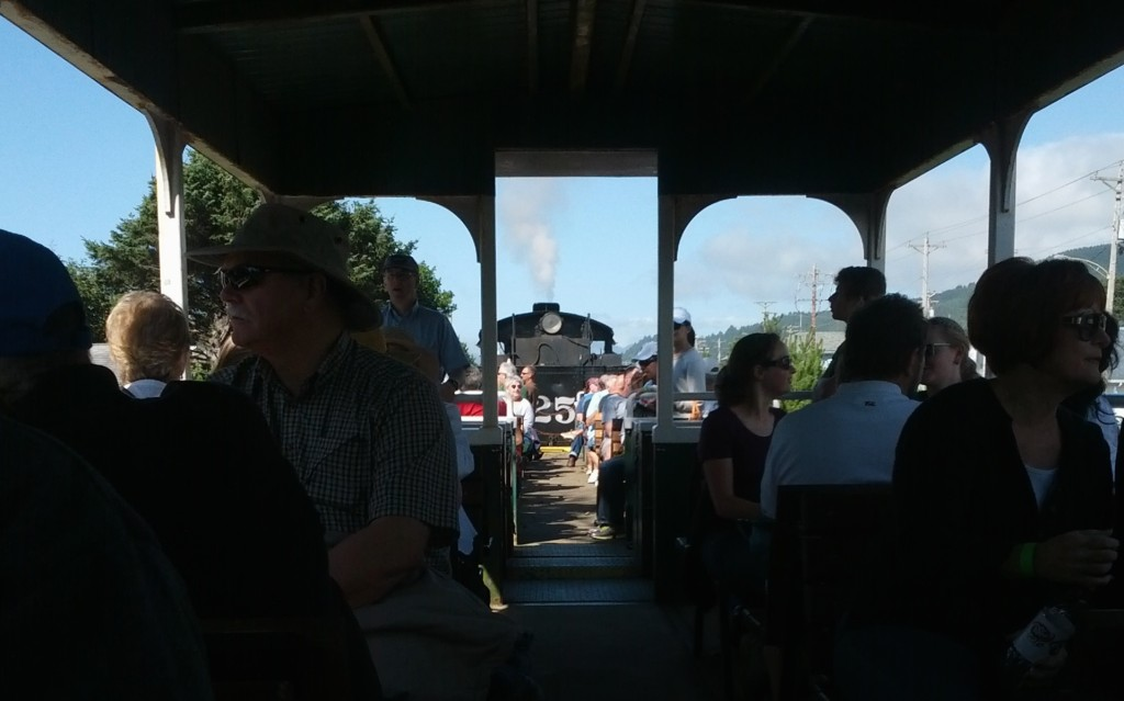 Riding on a Steam Train