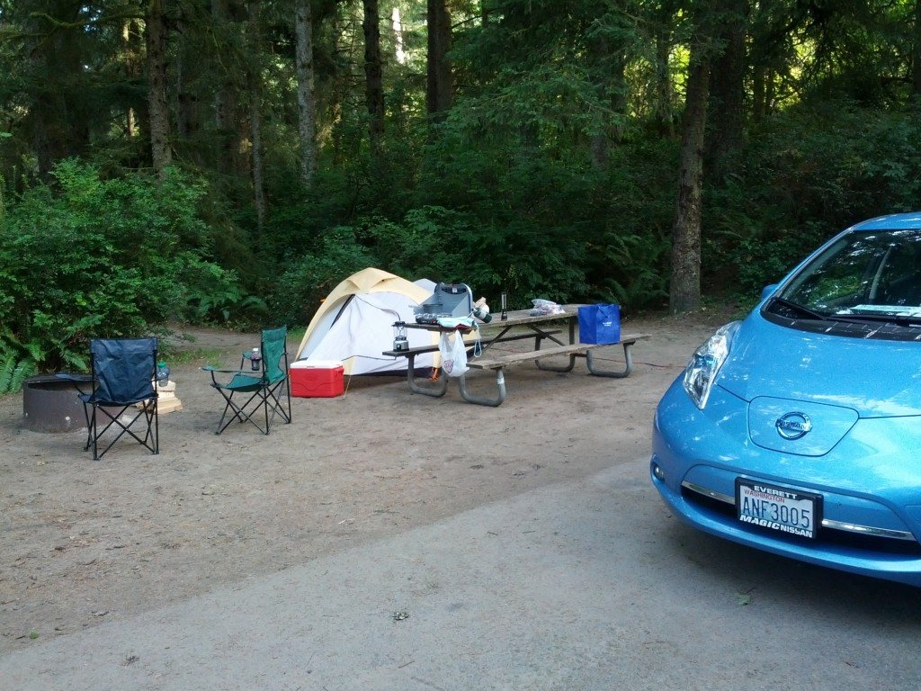 Campsite at Fort Stevens State Park