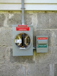 Meter box and shut-off switch