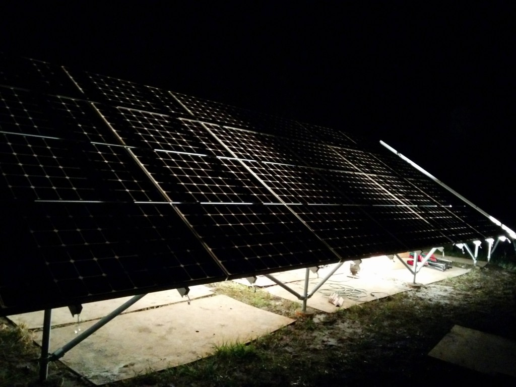 Back-lit solar panels look really cool!