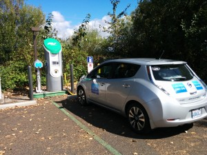 Charging on the West Coast Electric Highway. Ridgefield, WA.